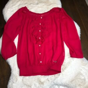 Hollister size small red sheet top